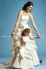 Hand-made Matte Satin jewel neckline gown with a belt discount flower girl dress