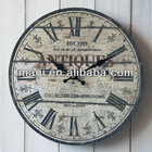 Shabby Wood Retro Wall Clock for Home Decor