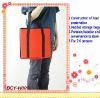 Red Foldable Picnic Cooler Bag for Family Dinner