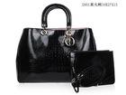 Superior quality black crocodile leather bags fashion imitation handbag