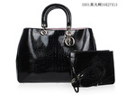 Superior quality black crocodile leather bags fashion imitation handbag