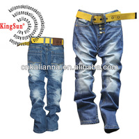 Fashion boys long jeans denim and company clothes kjr-991#