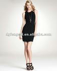2011 fashionable 100% cotton slim dress for women's