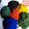 iron oxide red, black. yellow green gray powder