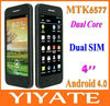 5Nice 4 inch (960x540) QHD Screen MTK6577 dual core Android 4.0 3G mobile cell phone dual sim card WiFi Hotspot GPS BT FM etc.