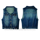 Ladies indigo denim vest(SP-23-1E)