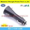 portable USB car charger input DC 12v/24v