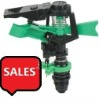 Plastic garden irrigation sprinkler