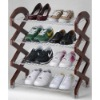 3TIER METAL WIRE WITH WOODEN STANDER SHOES RACK,STORAGE RACK, 3 TIER SHOES SHELF