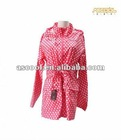 Women's cute waterproof polka dot raincoat