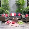 2011 popular garden rattan sofa outdoor furniture PRS-012