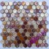 Metallic Hexagon Glass Mosaic tile