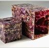 Gemstone amythest tissue box