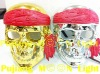 hot sale! silver and golden pirate skull party face mask for costume party