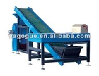 Magnetic separator for waste tire recycling line for rubber fine powder/granules