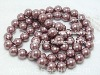 "15"" 12mm rosy brown shell pearl loose strand"