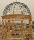 cream-colored stone gazebo