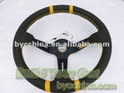 Hot Sale 350mm MOMO Genuine Leather Racing Steering Wheel