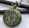 Fashion 2012 Newest Necklace Pocket Watch, Quartz Movement, FD47010, 47 x 47mm Archaize Antique Bronze Pocket Watch
