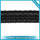 Black stretch lace trim,tricot lace fabric, chemical lace