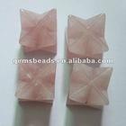 Natural rose quartz crystal merkaba star for healing crystal