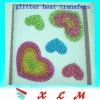 glitter heat transfer printing label
