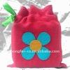 Cute flower cotton drawstring bags