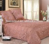 polyester quilted Bedspread Set embroider 3 Piece