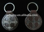 Western Key fobs with cross conchos