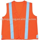 Reflective safety vest in various colors, made of polyester