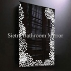Decoratived plastic mirror with light and flower pattern