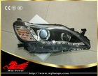 Toyota Reiz MARK X 2011 angel eyes Halogen/Bifocal lens HID Osram LED DRL headlights