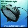 IP68 Waterproof 9-33v 6500k 12 pcs x 3w cree led work lamp
