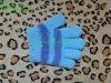 cute fashional microfibre knitted five fingers magic gloves