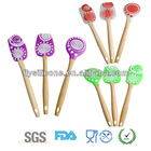 Colorful set of three pastry tools in 2012, popular silicone cake spatulas