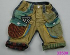 2012 New design and fashion denim short kids jeans