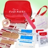 Lady outdoor first aid kit