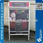 good quality aluminum Double Sides Poster A board With Top Header
