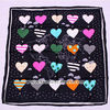 Heart pattern 14mm twill scarves retail