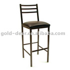 metal pub chair with soft seat surface
