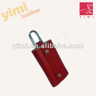 red outdoor leather key case