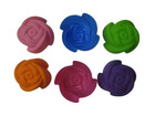 rose flower seperate silicone cake mould, pudding mold