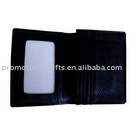 cow grain leather business card holder
