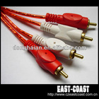 Clear Dual RCA Cable Flexible
