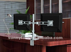 Adjustable Double Arm Monitor Mount