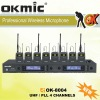 OK-8004 UHF/PLL 4 Channel wirelesss microphone system