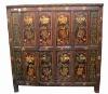 Tibetan wooden cabinet hand painted