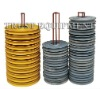 tower crane guide rope pulley, tower crane spare parts