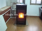 Pellet stove with water