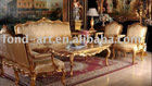Fabric Antique gold european style Sofa from DongGuan